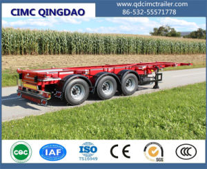 40FT Gooseneck Skeleton Container Chassis Semi Truck Trailer pictures & photos