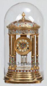 Cloisonne Giled Antique Clock (JG035A)