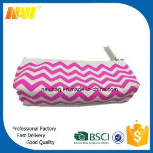 Small Canvas Chevron Cosmetic Bag pictures & photos