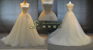 2014 Prom Evening Fashion Beaded Bridal Wedding Dresses with Ivory (JL13716)