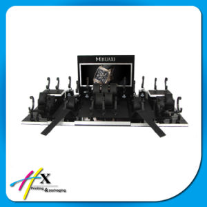 Luxury Modern Wooden Acrylic Black Metal Watch Display Stand 6 Slots pictures & photos