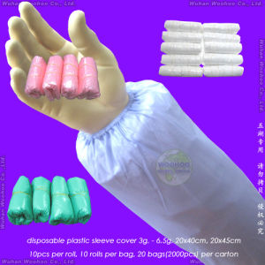 Waterproof Medical/Plastic/Polyethylene/Poly/HDPE/LDPE/PVC/PP+PE/PP/SMS/Nonwoven Disposable PE Sleeve Cover, Disposable PE Oversleeves, Disposable PE Sleevelets pictures & photos