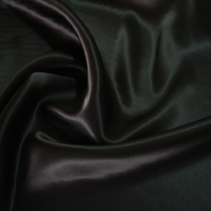 Black Silk Satin Fabric (110505)