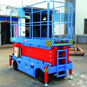 Capacity 500kg Mobile Scissor Lift (Max Height 4m) pictures & photos