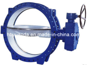 Double Flange Butterfly Valve with Gear Drive (D343H/F/X-6C/10C/16C/25) pictures & photos