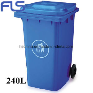 Eco-Friendly 70L Plastic Rubbish Bin with Open Top Lid pictures & photos