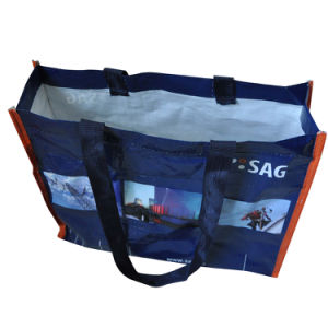 China Manufacturer Custom Printed Shopping BOPP Laminated Recycled PP Woven Bag pictures & photos
