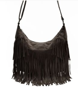 2017 Spring Fringe Fake Suede Crossbody Bag pictures & photos
