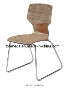 Restaurant Cafe Furniture Stainless Steel Leg Bentwood Stackable Cafe Chair (FOH-XM38-649) pictures & photos