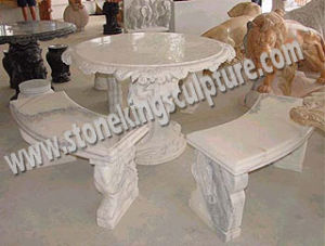 Outdoor Stone Tables and Benches for Garden (SK-1936) pictures & photos