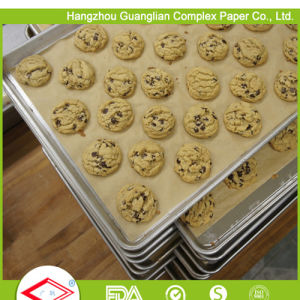 Heat Resistant Ovenable Silicone Baking Paper Sheets pictures & photos