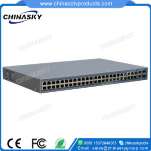48CH Poe Power Switch with 2 Ports Uplinks Combo (Built-in Power) (POE4822SFP-2) pictures & photos