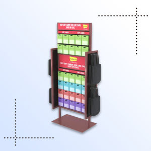 Supermarket Promotional Portable PVC Display Rack pictures & photos