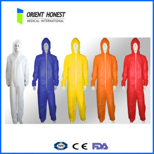 Disposable Industrial Workwears Breathable Waterproof Coverall