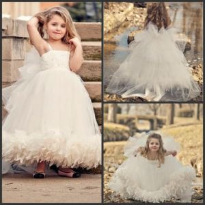 Girl′s Ball Gown Flower Girls′ Dresses Feather Girl Wedding Dresses Nh104 pictures & photos