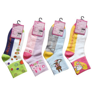 High Quality Fashion Spring/Autumn Jacquard Lady Socks pictures & photos
