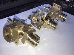 Textile Machine Connector / Valve Media Body/Valve Part/Brass Spare Parts, Brass Turning Parts, Brass Parts/ Machinery Part/CNC Machining/Hardware pictures & photos
