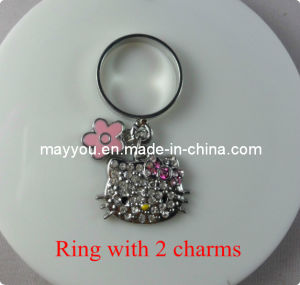 Fashion Jewelry-Rhinestones Hello Kitty Ring pictures & photos