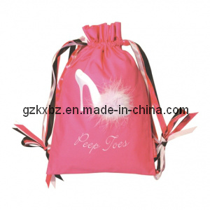 Non Woven Polyester Drawstring Shoes Cover Bag for Ladies (KX-JS186)