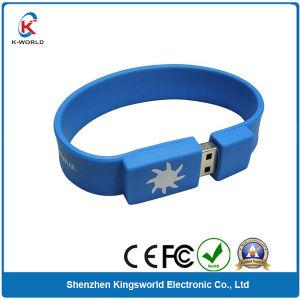 Free Logo Rubber Bracelet 8GB USB Flash Drive