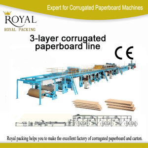 Mjt Model 3-Layer Corrugated Paperboard Production Line Carton Making Line pictures & photos