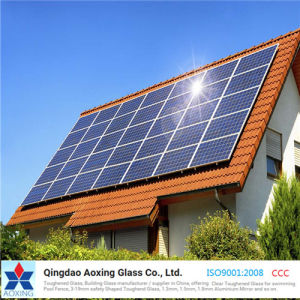 3.2/4mm Fully Tempered Extra Clear Glass for Solar Cell Module pictures & photos