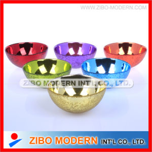 Electroplating Colorful Glass Bowl Home Decorate pictures & photos