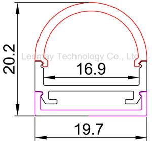 19.7*20.2mm LED Strip Light Aluminium Profile Customized Length pictures & photos