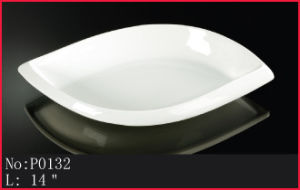 Durable White Porcelain Plate
