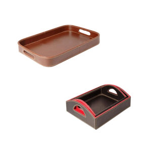 Leather Tray, Bathroom Tray, Amenity Tray (PB039)
