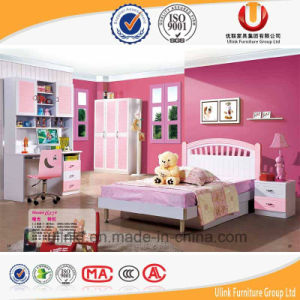 Unique Kids Bedroom Furniture with Bed Writing Table and Wardrobe (UL-H903) pictures & photos