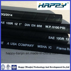 SAE 100r12 Four-Layer Spiral Wire Hydraulic Hose pictures & photos