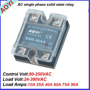 Cheap Cost 24-380V 60A AC AC Solid-State Electronics SSR-60AA 3G pictures & photos