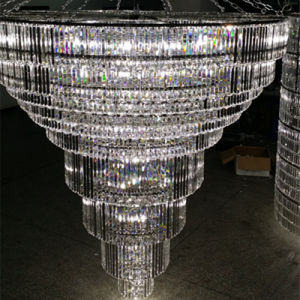 High Quality Hotel Lobby Multilevel Large LED Crystal Chandelier pictures & photos