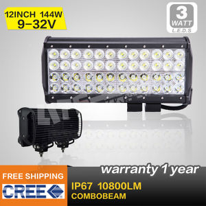 IP68 CREE LED Light Bar 144W, 12′′ LED Work Light, Combo Beam (SM 943)