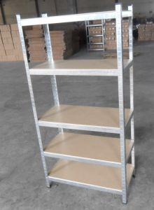 Display Shelf /Supermarket Shelving / Industrial Shelving/Store Shelf / Steel Shelf /Tool Shelf /Galvanized Shelf with Wooden Plates pictures & photos