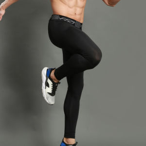Tight Fitness Pants Men Elastic Leggings Fitness Compression Pants Sweatpants Bodybuilding Male Trousers Base Layer pictures & photos