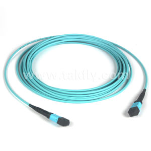 MPO/MTP Om4 Violet Fiber Optic Cable pictures & photos
