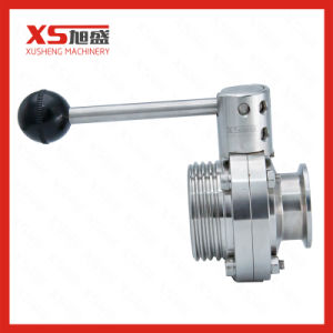 Stainless Steel Sanitary Thread-Clamp Manual Butterfly Valves pictures & photos