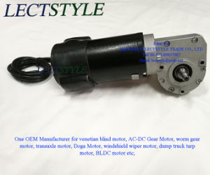48V 130W 88rpm Permanent Magnet DC Electric Venetian Blind Worm Gear Motor pictures & photos