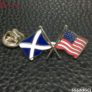 Factory Custom Friendship Two Different Flag Metal Lapel Pin pictures & photos