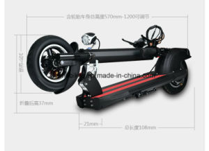 600W Alloy Electric Motor Kick Scooter with F/R Suspension 60V/20ah pictures & photos