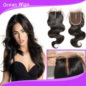 "New Arrival 3.5"" Swiss Lace Indian Virgin Hair Lace Closure (CL-023) pictures & photos"