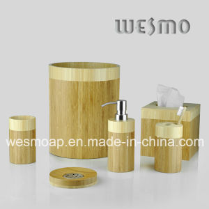Cylindrical Bamboo Bath Accessory (WBB0326C) pictures & photos