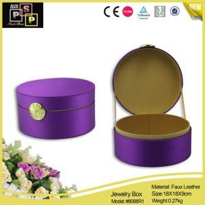 Purple Round Luxury Jewelry Box (8088) pictures & photos