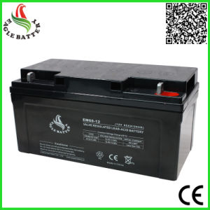 12V 65ah AGM Rechargeable Lead Acid Battery for UPS