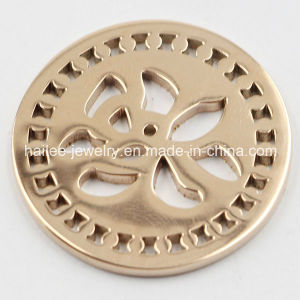 Fashion Stainless Steel Coin Plates Locket Pendant (HL-522) pictures & photos