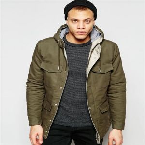 2016 Men′s MID-Long Jeans Parka in Bonded Nylon pictures & photos
