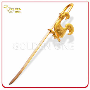 Custom Rooster Shape Gold Plating Metal Book Mark pictures & photos