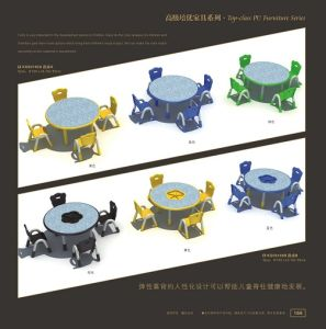 Kaiqi Children′s Table and Chairs -Wave Shape - Many Colours Available (KQ50166A) pictures & photos